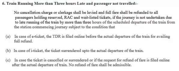 Train Refund in Case of Delays